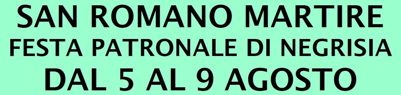 Festa di San Romano martire – Negrisia
